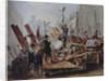 Barricades in the Stephansplatz, Vienna by Edouard Ritter