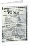 Poster advertising a performance of 'Don Juan' (Don Giovanni) by Wolfgang Amadeus Mozart by Austrian School