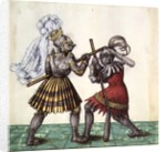 Fol.83 Emperor Maximilian I of Germany engaged in man-to-man combat by German School