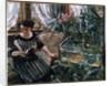 A Woman Reading near a Goldfish Tank by Lovis Corinth