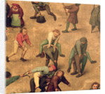Detail of children playing leap-frog by Pieter Bruegel the Elder