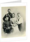 Family portrait of Princess Zenaida Yusupova, Count Felix Sumarokov-Elston and sons Nikolai and Felix by Russian Photographer