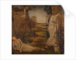 Cupid and Psyche - Palace Green Murals - Zephyrus Bearing Psyche to the Mountain, 1881 by Edward Coley Burne-Jones