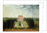 Conversation Piece before House on Monument Lane, Edgbaston, 1770-1820 by W. Williams