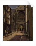 La Rue Pecquet, Dieppe, 1900 by Walter Richard Sickert