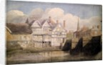 Old Houses and Wye Bridge, Hereford, 1820 by David Cox