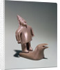 Mythological figure standing on a whale by Inuit School