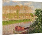 Sunset at Moret-sur-Loing by Camille Pissarro