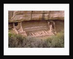 Remains of Pueblo Indian dwellings with entrance to a Kiva by Unknown