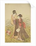 Two Ladies, Edo Period by Toshusai Sharaku
