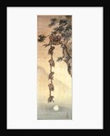 Monkeys reaching for the Moon by Japanese School