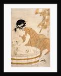The Bath, Edo period by Kitagawa Utamaro