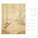 Bamboo and Crane, Edo Period by Japanese School