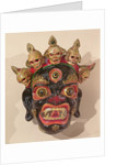 Mahakala dance mask by Tibetan School