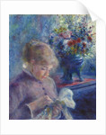 Young Woman Sewing, 1879 by Pierre Auguste Renoir