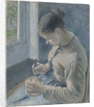 Young Peasant Having Her Coffee, 1881 by Camille Pissarro