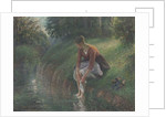 Woman Bathing Her Feet in a Brook, 1894-95 by Camille Pissarro