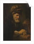 An Old Man in a Fur Cap, 1650-60 by Karel van der Pluym