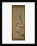 Pheasant, bullfinch, flowers and rock, c.1800 by Ariwara Baikei