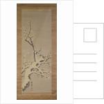 Sparrow on a tree in a snowstorm, c.1800 by Kishi Ganku