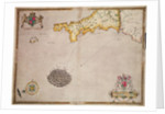 Map No. 1 showing the route of the Armada fleet by Robert Adams