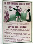 """Women's Suffrage Poster """"The Right Dishonourable Double-Face Asquith"""" by English School"""