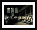 Charles James Fox Addressing the House of Commons during the Pitt Ministry by Anton Hickel