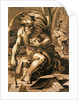 Diogenes, engraved by Ugo da Carpi by Parmigianino