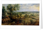 An Autumn Landscape with a view of Het Steen in the Early Morning by Peter Paul Rubens