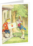 The Fish-Footman Delivering an Invitation to the Duchess by John Tenniel