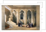 Interior of the Temple at Esna, Upper Egypt by David Roberts