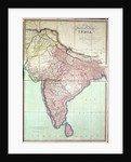 Improved Map of India by English School
