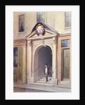 The Entrance to Butchers' Hall by Thomas Hosmer Shepherd