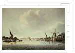 A View of the Thames near Vauxhall by English School