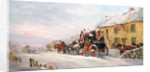 Stage Coach Outside a Tavern, Bath by J.C. Maggs