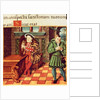 Henry VIII Playing a Harp with his Fool Wil Somers by English School