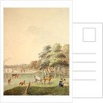 The East End of the Serpentine, and a Distant view of the Bathing House by John White Abbott