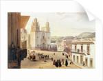 Plaza Mayor de Guonajuato by Carlos Nebel