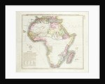 Map of Africa by English School