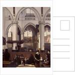 The Interior of Oude Kerk, Amsterdam by Emanuel de Witte