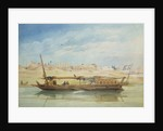 Kanga on the Nile at Luxor by Emile Prisse d'Avennes