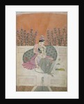 Lovers on a Terrace, Pahari by Indian School