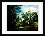 Cottage in Moonlight by Thomas Gainsborough