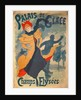 Poster advertising the Palais de Glace on the Champs Elysees by Jules Cheret
