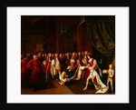 Queen Anne and the Knights of Garter by Pierre Angelis or Angillis