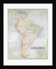 Map of South America by English School