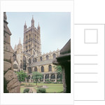 View of Gloucester Cathedral by English School