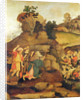 Moses brings forth water out of the rock by Filippo Lippi