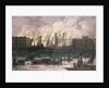 View of a fire at Whitehall Palace by English School