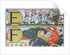 E-F from an Alphabet based on Nursery Rhymes by Walter Crane
